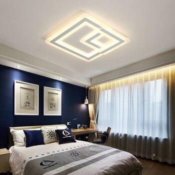 Hiện đại Acrylic Vuông Đèn LED Âm Trần Điều Khiển từ xa Ấm/Ánh Sáng Trắng 220 V Cho Phòng Khách Phòng Ăn Phòng Ngủ miễn phí Vận Chuyển