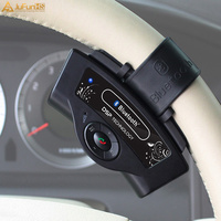 Bluetooth Remote control Handsfree Car kit for Steering Wheel MP3 Music Media Button for iphone Android USB Charger Hands free