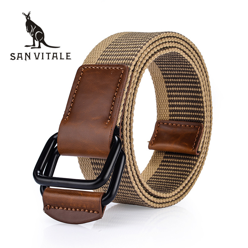 <font><b>SAN</b></font> <font><b>VITALE</b></font> Men <font><b>Belt</b></font> Canvas New Arrival Outdoor Army Tactical Military Nylon <font><b>Belts</b></font> Mens Waist Swat Strap With Buckle Rappelling image
