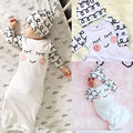 Cotton Sleepy Eyes+Rosy Cheeks Outfit Baby Gown Hat Infant Newborn Robes Gift 2pcs Set New