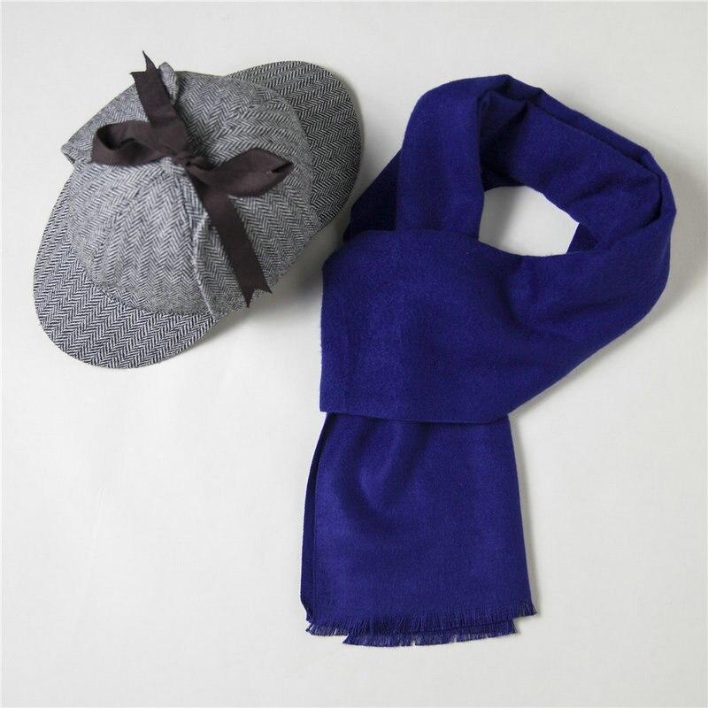 Cosplay Sherlock Holmes Cap Detective Hat And Scarf Wool Costume Adult Deerstalker Houndstooth