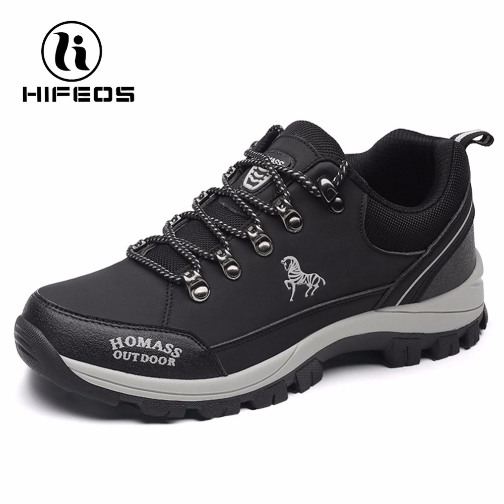 HIFEOS men tactical hiking boots climbing sneakers for waterproof breathable mountaineer camping shoes winter outdoor sport winter men s outdoor warm cotton hiking sports boots shoes men high top camping sneakers shoes chaussures hombre