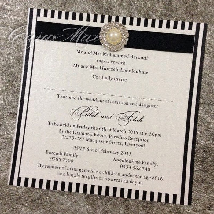 Online Shop CA0649 Black Stripe Wedding Invitations | Aliexpress ...