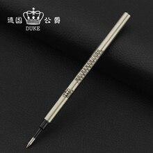 10 шт./лот Германия Герцог с Черными Чернилами 0.5 мм 0.7 мм Шариковая Ручка Пополнения Стандарт 11.2 см Длина Плоский Роллер ручка Пополнения