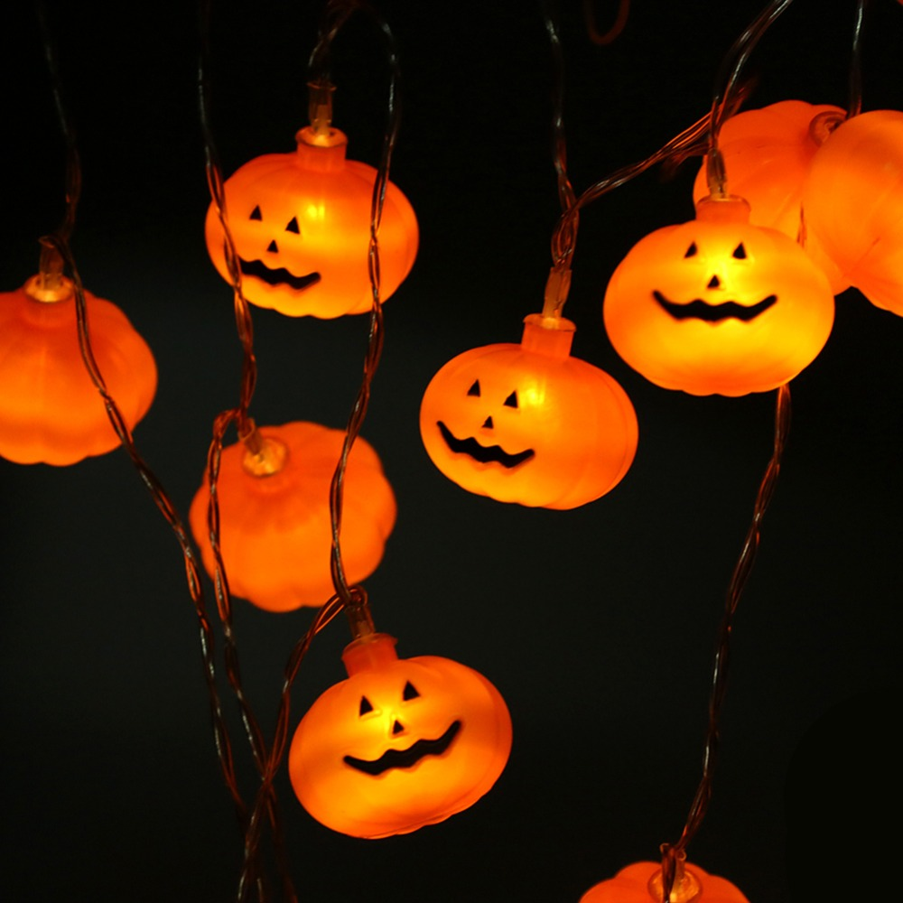 Us 3 19 23 Off 10 20leds Pumpkin Lanterns Decoration Fairy String Light Home Outdoor Garden Holiday Party Escape Diy Night In