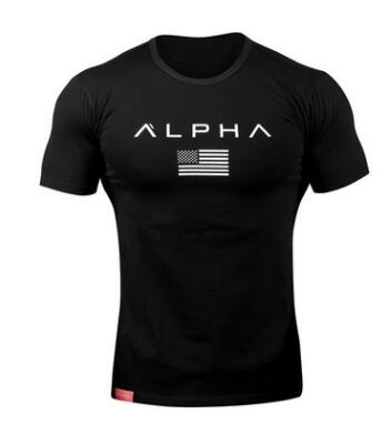 New  Clothing Fashion T Shirt Men Cotton Breathable Mens Short Sleeve Fitness t-shirt Gyms Tee Tight Casual Summer Top 3