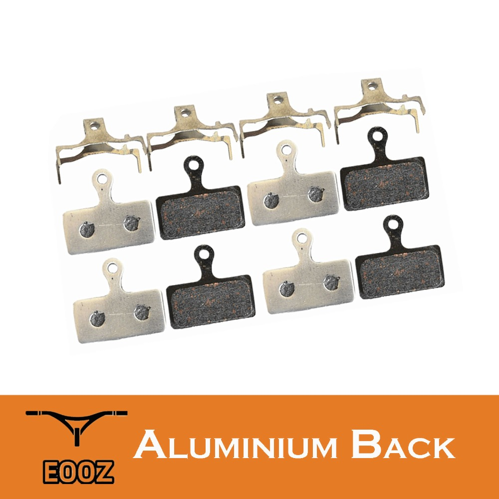 4 Pairs Lightweight Bike Semi-metallic Disc Brake Pads Aluminum Alloy Back For SHIMANO <font><b>G01S</b></font> XTR M9000 M988 Deore XT M8000 M785 image