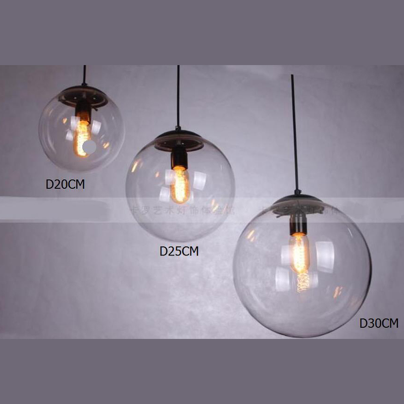 Pendant Lights Bar lamp Crystal ball bar coffee living room clear glass ball pendant glass ball pendant lamps GY69 4 glass small clear ball paraffin oil lamp indoor outdoor