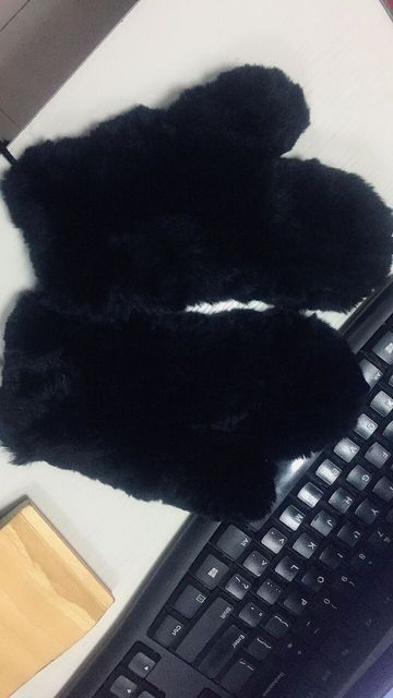 Rex Rabbit Fur Winter Gloves 100% Real Fur Knitted Female Gloves with Long Straps Soft Warm Wrist Gloves Without Fingers