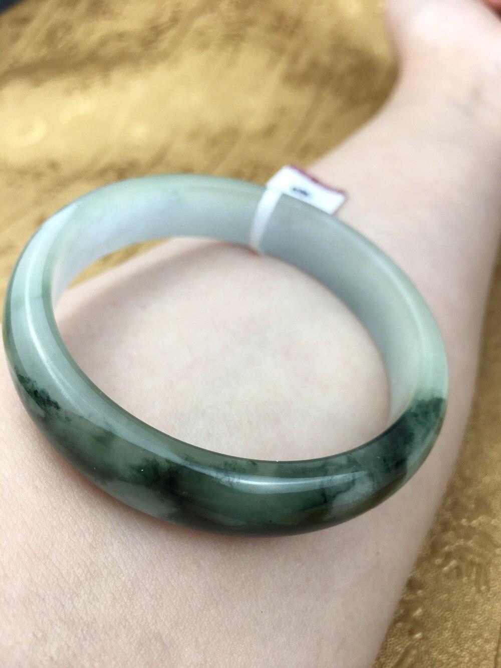 Send A certificate natural Jadeite bracelet Natural dark green two-color 54-61mm princess bracelet Jewelry giftSend A certificate natural Jadeite bracelet Natural dark green two-color 54-61mm princess bracelet Jewelry gift