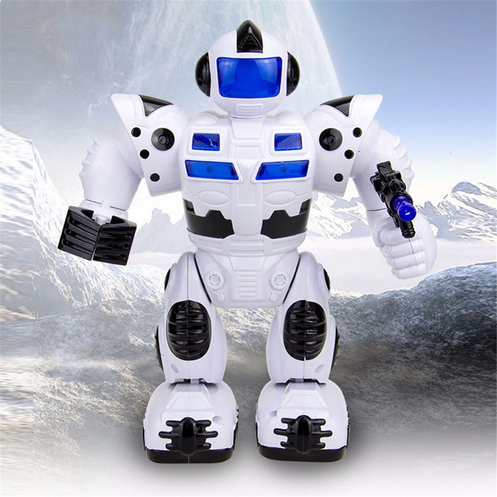 Pet Products Inventive Simulation Walking Speech Walking Robot Kids Toy Gift Lighten Electronic Toy Robot Christmas Birthday For Children Gifts Pet Toy