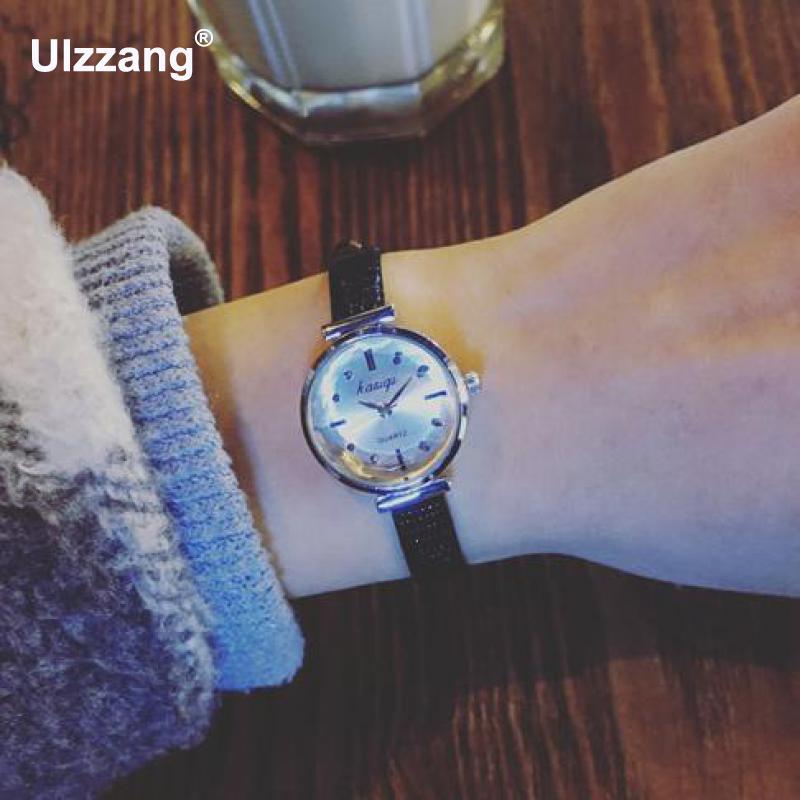 2.4cm Dial Small Dial Cute Ultra Thin Leather Strap Steel Quartz Wrist Watch Bracelet Women Ladies Wrist Watches lp401020 3 7v 55mah ultra small lipo battery for bracelet watch
