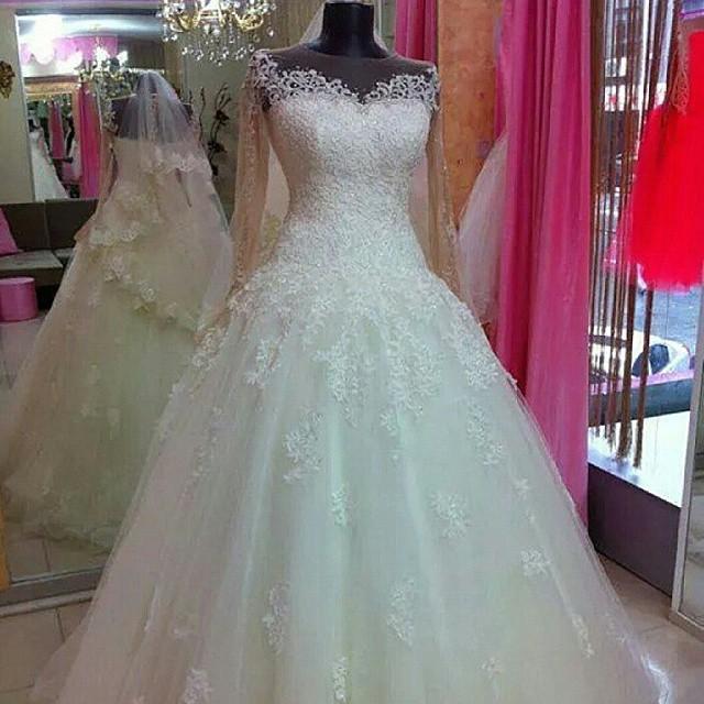 Popular drop waist wedding gown buy cheap drop waist for Drop sleeve wedding dress