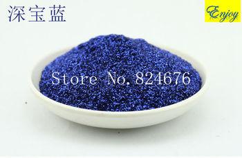 Normal Series Dark Sapphire blue Color Glitter Powder Dust ,Flash Cosmetic material DIY Nail Art Decoration 500g/bag