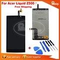 100% testado original para acer liquid z500 z500 lcd screen display toque digitador assembléia frete grátis + ferramentas
