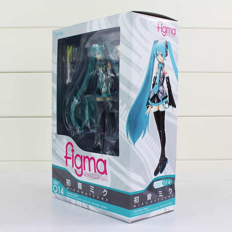 13 cm Anime Figma 014 Volcaloid Hatsune Miku PVC Action Figure Boneca Coleção Toy Modelo