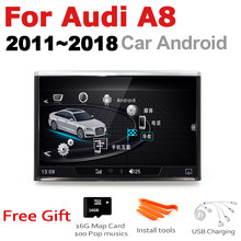 8 inch Andrid 7.0 up Car Multimedia Player For Audi A8 4H 2011~2018 MMI radio gps Navi Map WiFi original style Bletooth(China)