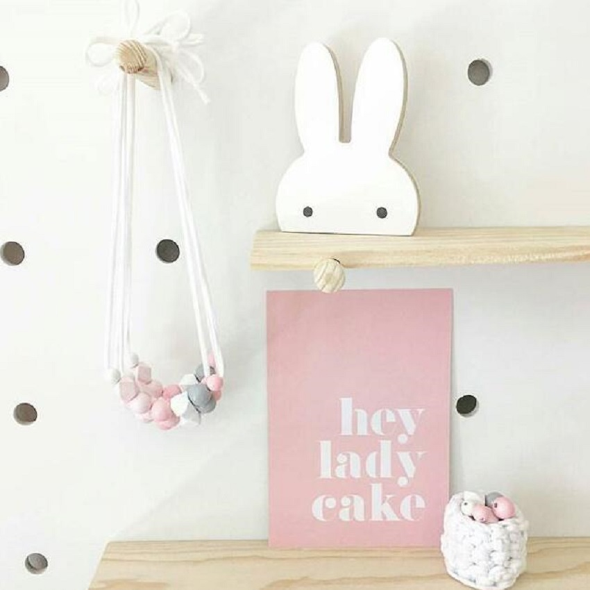 Kinderkamer Decoratie Muur.Leuke Bunny Houten Kleding Haak Voor Kinderkamer Muur Versieren