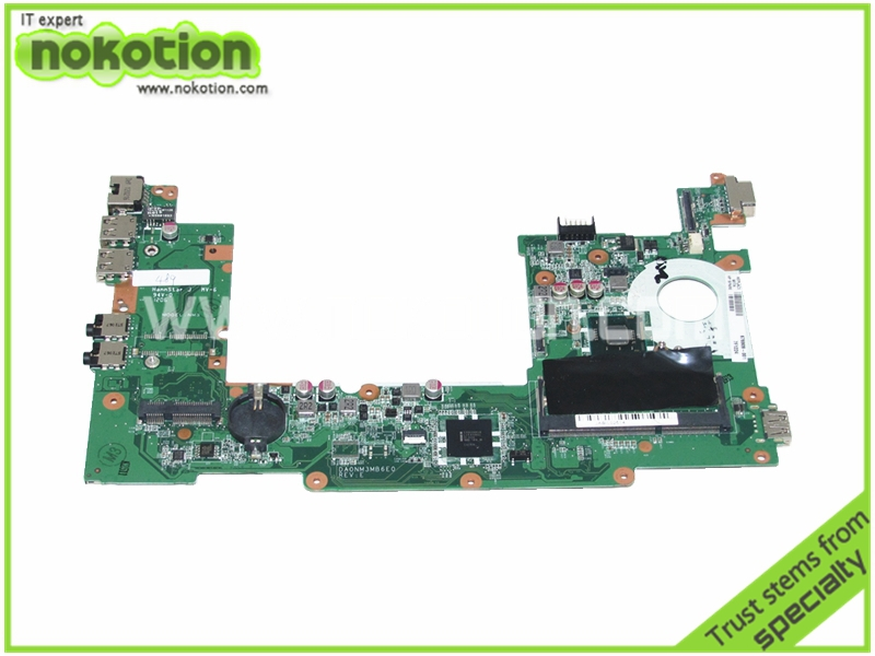 NOKOTION Laptop Motherboard for hp mini 210-4201SA 676909-001 DA0NM3MB6E0 N2600 DDR3 Mainboard High Quality nokotion sps v000198120 for toshiba satellite a500 a505 motherboard intel gm45 ddr2 6050a2323101 mb a01