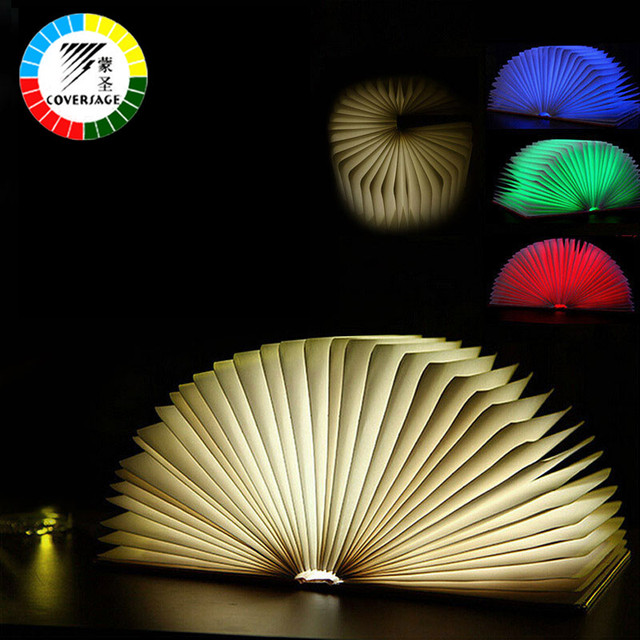 Coversage Novel Book Night Light Led Four Colors Table Lamp Bedroom Children Kids Baby Sleeping