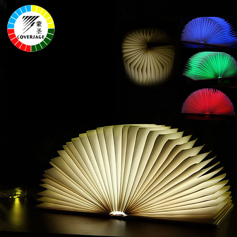 Coversage Novel Book Night Light Led Four Colors Table Lamp Lamp Bedroom Children Kids Baby Sleeping USB Lamps Led Night Light
