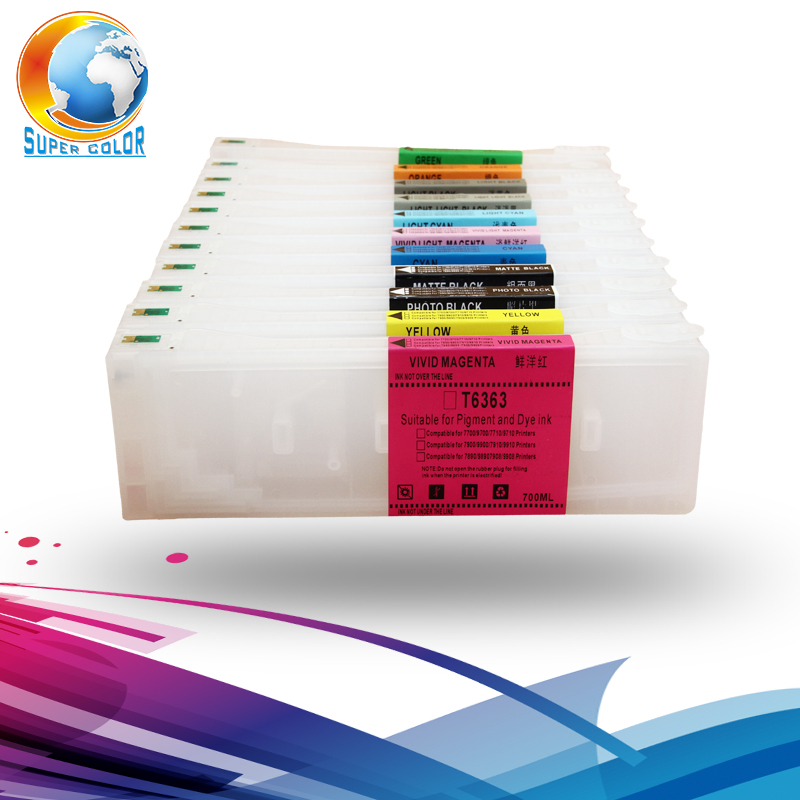 9 colors T8041-T8049 700ml refill cartridge for Epson P6000 P7000 P8000 P9000 refill ink tank with one time use chip hisaint 70 ml refill dye ink 6 ink cartridge ink for epson l101 l111 l201 l211 l301 l351 l353 l l551 l558 for espon printer ink