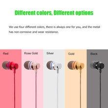Novo 3.5mm Stereo Baixo Fone de Ouvido Com Fio fone de Ouvido música esporte Fone De Ouvido De Metal para LG G6 G600K G600L G600S