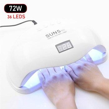 Nouveau 72 w UV Led Lampe Nail Sèche-Pour Tous Les Types Gel 33 Led UV Lampe pour Nail Machine Soleil lumière Infrarouge de Détection Intelligent Pour Manucure