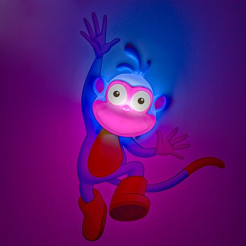 Novelty LED 3D Nightlight for Kid Boy Gift Wall Decoration Holiday Party Lighting Dora's Monkey IY303171-2 creative led 3d nightlight hockey for kid boy gift wall decoration holiday party hockey lighting iy303166 5