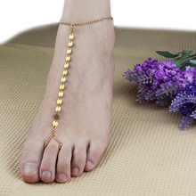 2016 Top Quality Women Sexy Gold Plated Casual Anklet Toe Slave Bracelet Foot Chain Sandal Beach Jewelry  5U3Y 6SR2 7FBC 7N3X