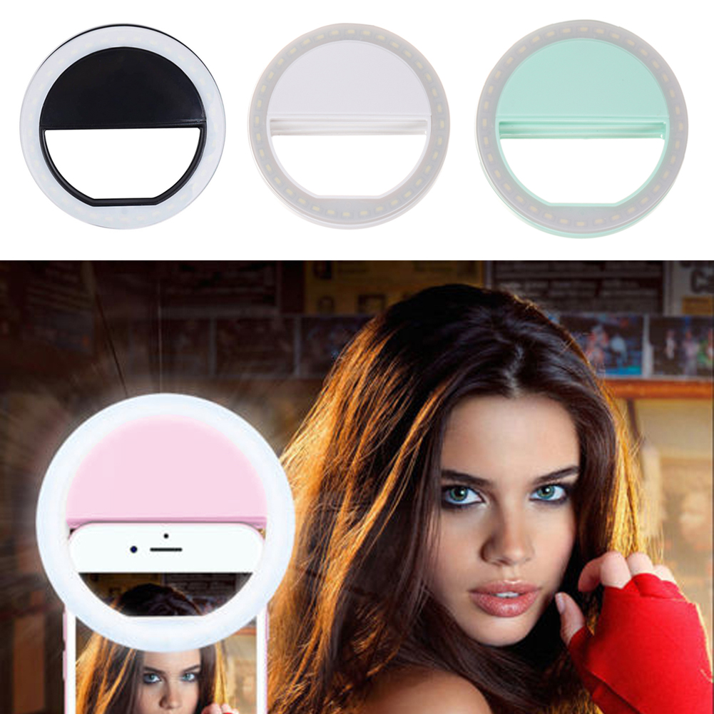 USB Rechargeable Mobile Phone LED Selfie Light Beauty Selfie Ring ... for Beauty Light For Iphone  53kxo