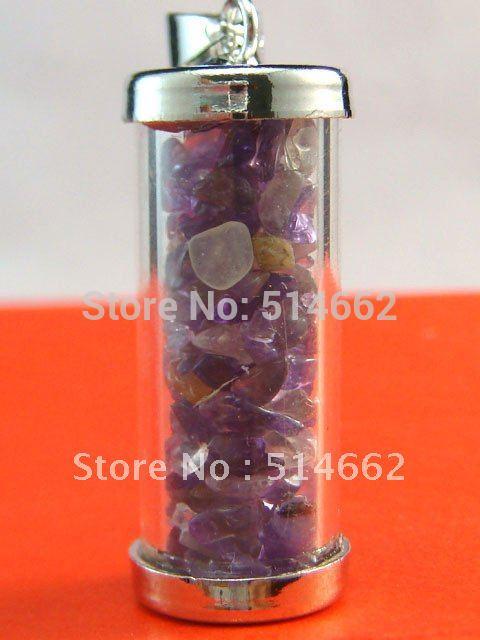Feng Shui Amethyst Crystal Wealth Vase Pendant Y1277b In Stones From
