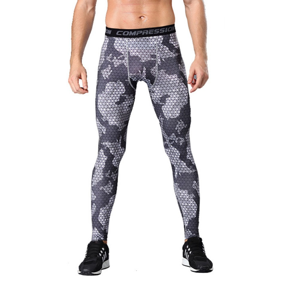 Mens Sports Pants Compression Tights Men's Quick-drying Pants Outdoor Running Training Basketball Pants Fitness Pants Leggings