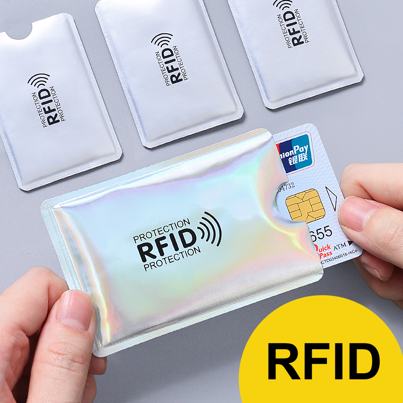Multicolor Laser Anti Rfid Wallet Blocking Reader Lock Bank Card Holder ID Bank Card Case Men Protection Metal Credit Aluminium