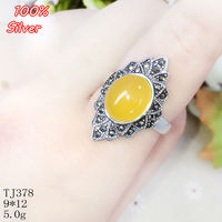 100% 925 תכשיטי טבעת כסף סטרלינג לנשים מתכוונן 9*12 מ