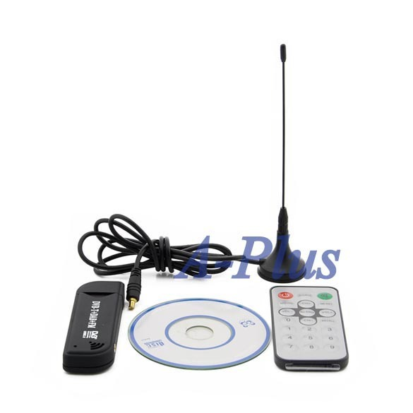 Free shipping 5set/lot Software Radio USB DVB-T RTL2832U + R820T Support SDR Digital TV Tuner Receiver 14858