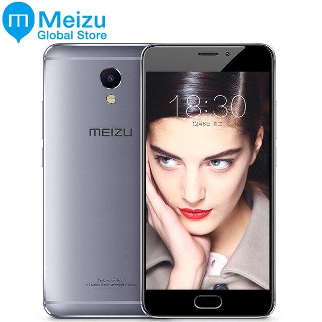 """Оригинал Meizu M5 Примечание Глобальный Версия 32 ГБ 3 ГБ 5.5 """"мобильного телефона Android helio P10 Восьмиядерный 13MP отпечатков пальцев 4000 мАч Сотовая связь"""
