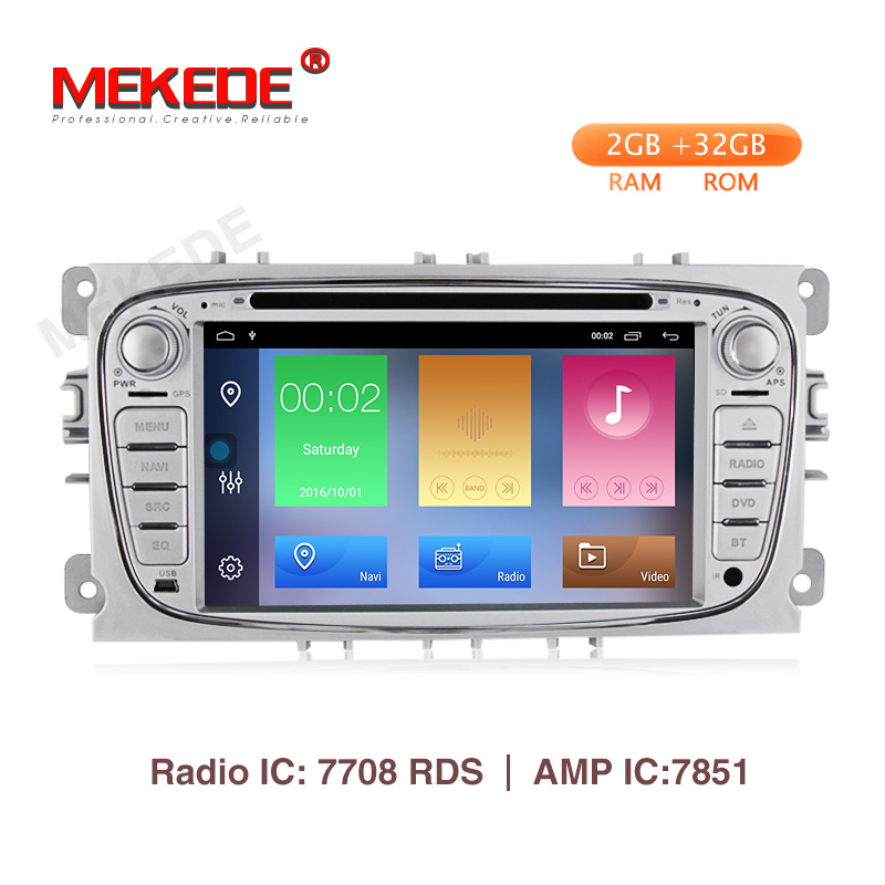 Mekede Android9.1 Car DVD Player 7INCH 2DIN radio GPS Navi for Ford Focus Mondeo Kuga C-MAX S-MAX Galaxy Audio Stereo Head Unit