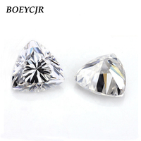 BOEYCJR Custom D Color Trillion Cut Brilliant Cut Moissanite Loose Stone Excellent Cut Jewelry Making Engagement Ring