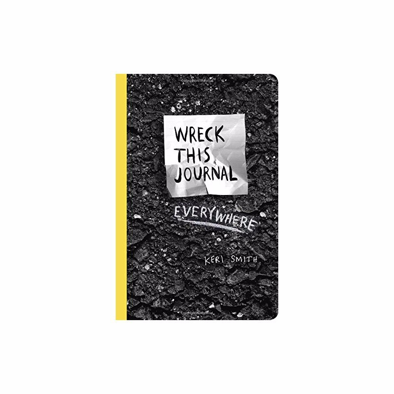Wreck This Journal Everywhere By Keri Smith 144 Pages English Original Book Wreck This Journal (Black)Expanded ED. Free Shipping