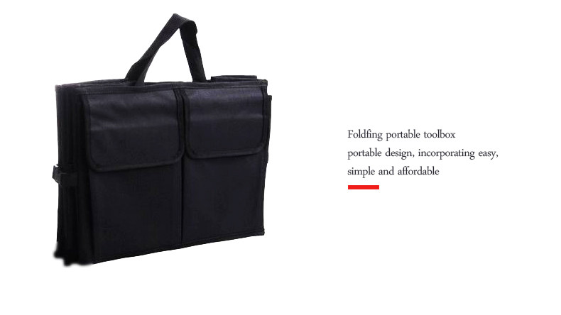 Auto Supplies Car Back Folding Storage Box Multi-Use Tools Organizer Car Portable Storage Bags Black 10