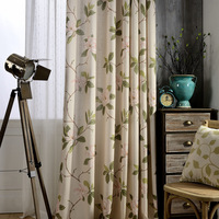 Printed Thermal Insulated Blackout Curtains For Living Room Bedroom Window Treatments Room Cloth Curtains Panel Drapes
