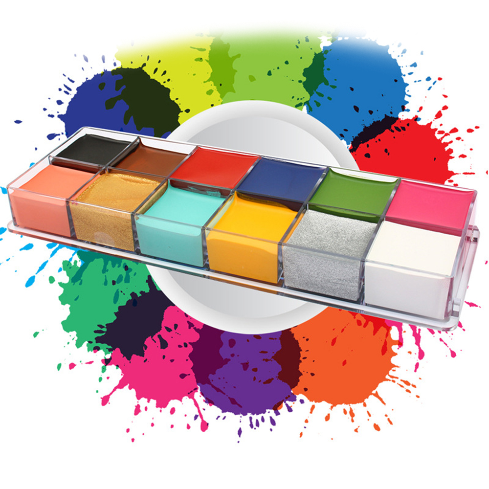 12 Colors Face Paint Oil Painting Art Body Art Painting Halloween Party Art Tool Supplies