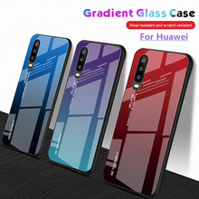 Gradient Tempered Glass Phone Case For Huawei Nova 4 3E 3i P30 P20 Pro Mate 10 20 Lite Shell Cover Honor 8X Max case