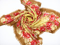 2015 new square scarf 100% wool women fashion square scarf,flowers yellow  size:120x120