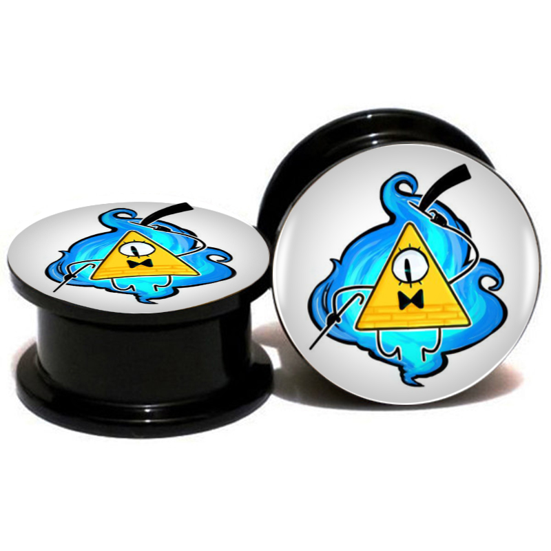 ear plug 8 pairs gravity falls mysteries bill cipher wheel ear plug