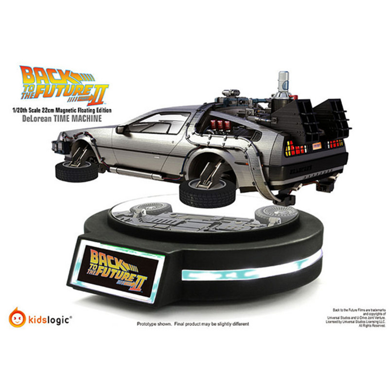 Movie Back To The Future 2 Magnetic Levitation Time Car (Reprint), Ratio 1/20 PVC Action Figure Collection Model Toy WMQ
