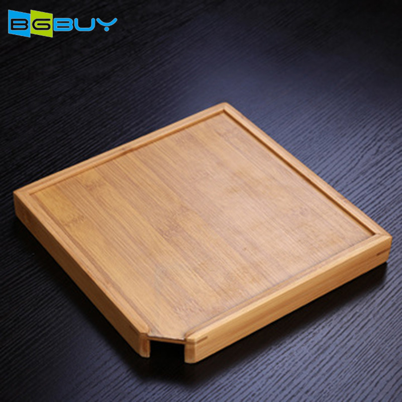 Chinese Bamboe Theeblad Gongfu Thee Tafel Dienblad in Home Office Restaurant Receptie Kamer Thee Accessoires S/ L