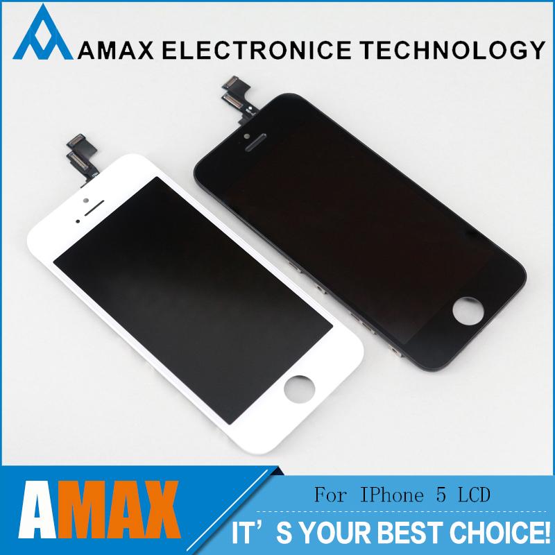 Prix pour 50 PCS/LOT LCD Pour iPhone 5S Écran D'affichage Remplacement 100% Marque Nouveau Test 1 Par 1 Avant L'expédition
