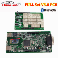 3pcs/lot OBDIICAT CDP V3.0 PCB 2015 R3/2016 With Keygen New VCI TCS Scanner With Bluetooth obd OBD2 Car Diagnostic Tool
